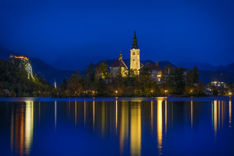 Bled-and-blue-hour