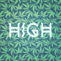 HIGH TYPO! Cannabis / Hemp / 420 / Marijuana  - Pattern by badbugsart