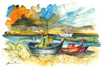Boats in Carrasqueira in Portugal 01 von Miki de Goodaboom