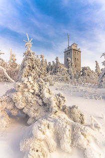Winter auf dem Fichtelberg von Stefan Weiß