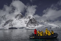 On boat in Antarctica by Frank Tschöpe