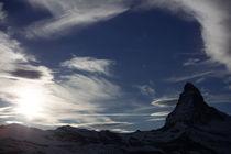 Silhouette of Matterhorn by Frank Tschöpe