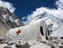 Hospital in Everest Base Camp by Frank Tschöpe