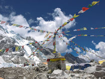 Prayer Flags at Everest Base Camp by Frank Tschöpe