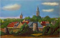 Stadtkern Templin, mit Stadtmauer by Conrad Andersen