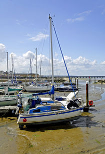Boats in Ryde Harbour von Rod Johnson
