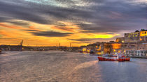 Valletta Grand Harbour Sunset  by Rob Hawkins