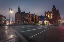 Speicherstadt bei Nacht von Simone Jahnke