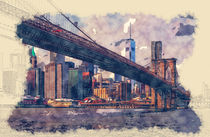 New York Brooklyn Bridge von Tanya  Hall