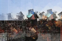 Skyline New York cubism abstract von Christine Bässler