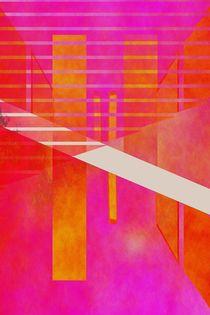 Abstract-geometry-pinkandorangea