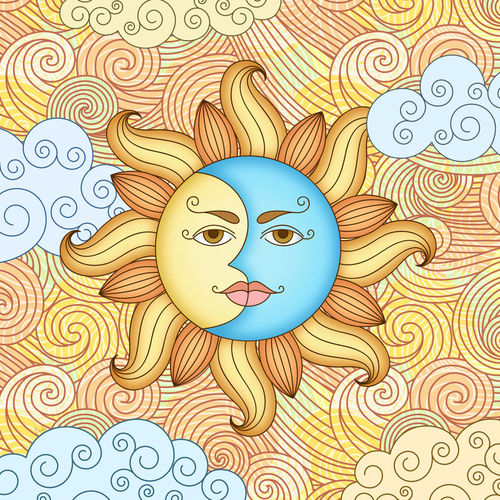 Half-moon-and-the-sun