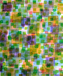 Large Squares covered by Small Green Squares by Heidi  Capitaine