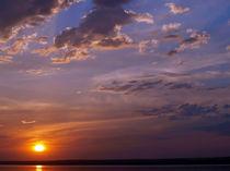 Summer sunset on lake von Vladislav Romensky