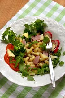 Nudelsalat mit Vogelmiere und Räßkäse by lizcollet