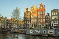 Amsterdam - Abendstimmung an der Brouwersgracht von Thomas Seethaler