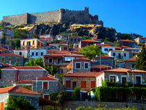 Molyvos village, Lesvos by Bill Covington