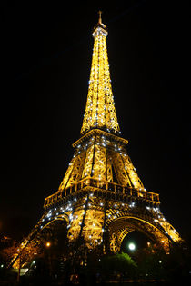The Eiffel tower at night illuminated by Perry  van Munster