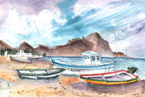 Boats In Las Negras In Cabo De Gata 01 von Miki de Goodaboom