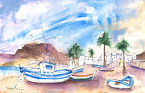 Boats In Las Negras In Cabo De Gata 02 by Miki de Goodaboom
