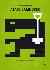 No582 My ATARI GAME OVER minimal movie poster by chungkong
