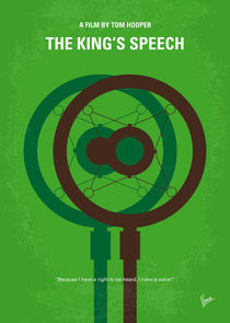 No587 My The Kings Speech minimal movie poster by chungkong
