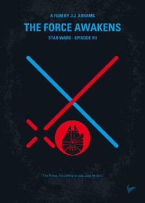 No591 My STAR WARS Episode VII THE FORCE AWAKENS minimal movie poster von chungkong