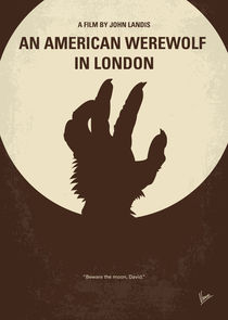 No593 My American werewolf in London minimal movie poster von chungkong