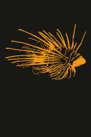 Feuerfischorangeohnetext