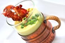 Erbsensuppe mit Kurkuma und Bacon von lizcollet