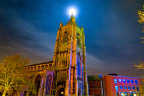 Full Moon Above Church of St Peter Mancroft by Vincent J. Newman