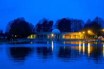 Eaton Park Lake at Dusk, Norwich, England by Vincent J. Newman