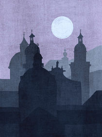Full Moon over Salzburg von Ladislav Dunaj