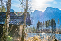 Cottage at Lakeside artistic by Gerhard Petermeir