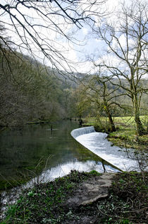 River Wye Weir, near Ashford-in-the-Water von Rod Johnson