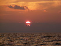 """""""Sonnenuntergang am Flügger Strand"""" von Simone Marsig"""