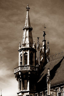 Neues Rathaus München | Turmspitzen mit Wächter von lizcollet