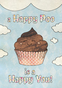 Happy Poo - bathroom poster by Alice Illustrator