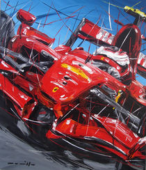 Raikkonen Ferrari von Minocom Art Gallery