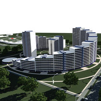 Residential complex 3D render by Ales Munt