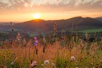 Sonnenuntergang im Sauerland von Heidi Bücker