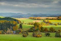 Sauerlandblick im Herbst von Heidi Bücker