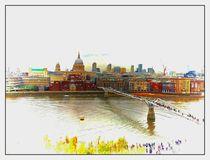 Millenium Bridge London von sylvia scotting