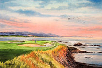 Pebble Beach Golf Course California von bill holkham