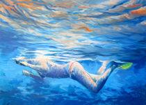 Landschaft, Malerei, Underwater Diving von Geert Bordich