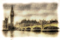 Westminster Bridge Vintage by David Pyatt