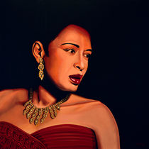 Billie Holiday painting von Paul Meijering