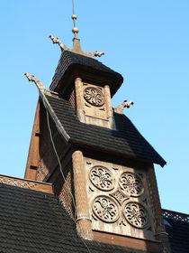 Dachreiter der Stabkirche Wang by Sabine Radtke