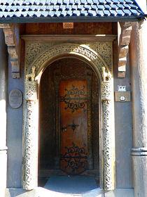 Eingang der Stabkirche Wang von Sabine Radtke