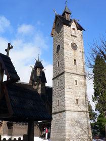 Glockenturm zur Stabkirche Wang von Sabine Radtke